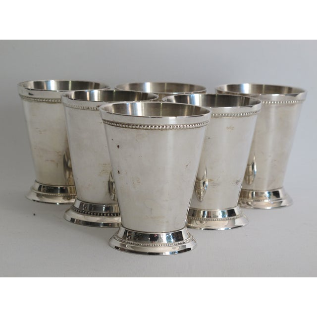 Silver-plated Julep Cups - S/6 - Image 3 of 6