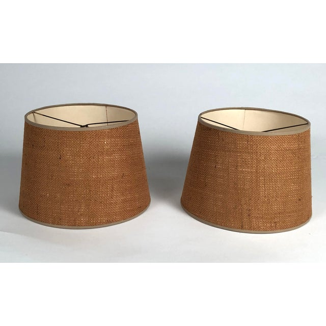 Boho Chic Mid-Century Modern Martz Hand Painted Art Pottery Lamps - a Pair For Sale - Image 3 of 11