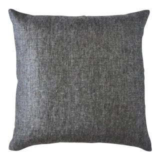 Thistle Throw Pillow Large Charcoal For Sale
