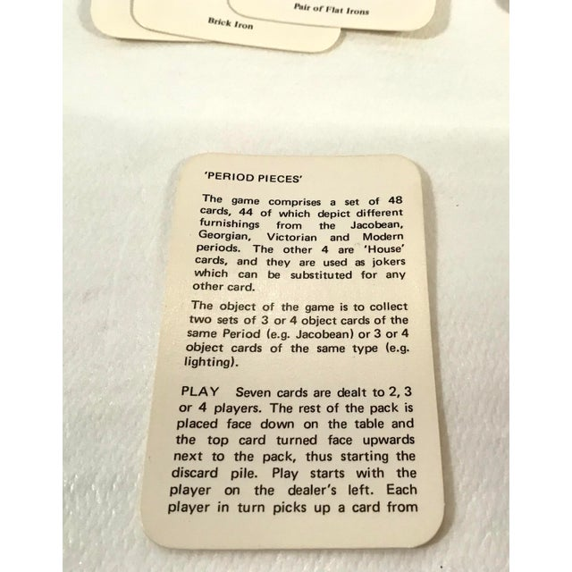 Gold Vintage Mid-Century English Antiques Card Game For Sale - Image 8 of 10