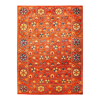 One-Of-A-Kind Patterned & Floral Handmade Area Rug - 10 X 14 For Sale