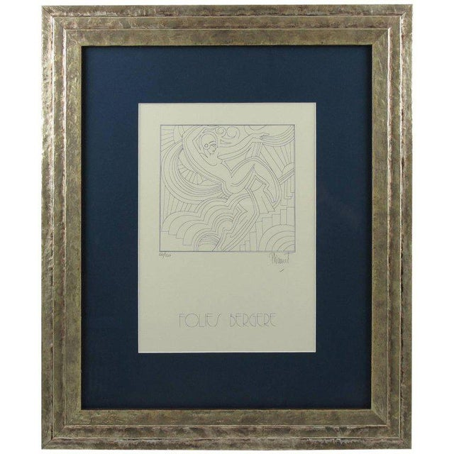 "Patrick Fionnet After Pico ""Folies Bergere"" Facade Art Deco Lithograph For Sale - Image 11 of 11"