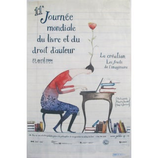 2006 Contemporary Quebec Poster, 11th World Book and Copyright Day For Sale