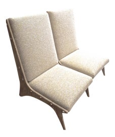 Image of Beige Slipper Chairs