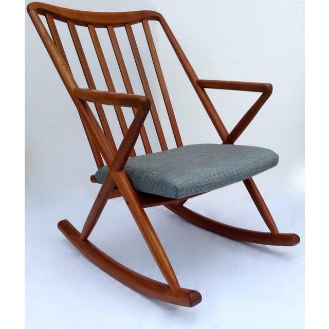 Danish Modern Benny Linden Danish Mid-Century Teak Rocking Chair For Sale - Image 3 of 11
