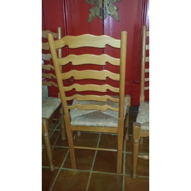 Ladderback Pine Chairs - Set of 4 - Image 5 of 8