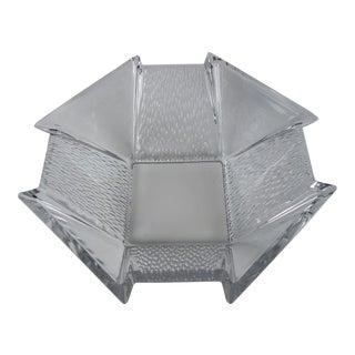 Mid-Century Geometric Glass Bowl
