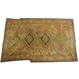 Antique Bohemian Textile Throw / Decorative Rug - 4′10″ × 8′4″ For Sale