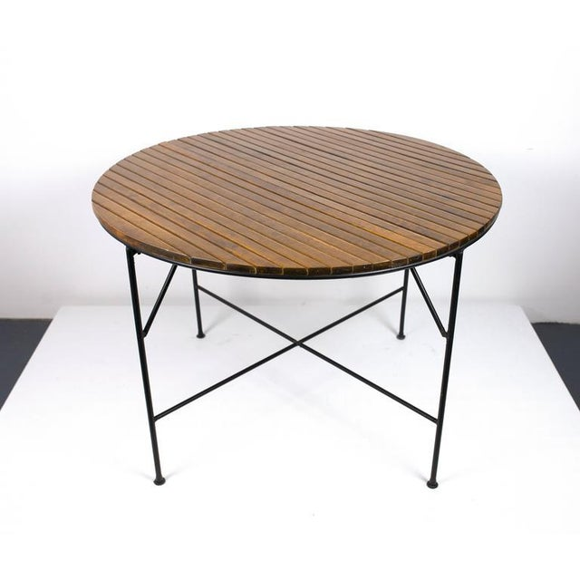 Metal 1950s Mid-Century Modern Arthur Umanoff Dining Table and Chairs Set - Set of 5 For Sale - Image 7 of 11