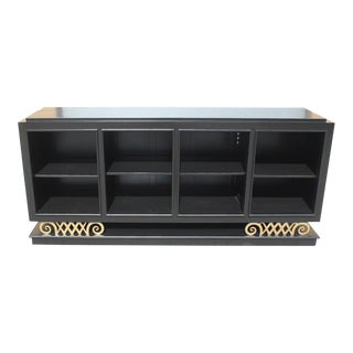 1940s French Art Deco Ebonized '' Harlequin Leg ''Sideboard For Sale