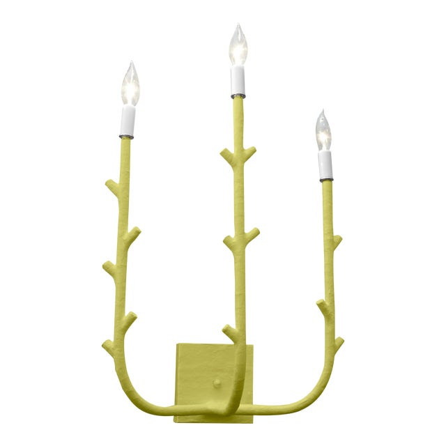 Stray Dog Designs for Chairish Fred Sconce, Parakeet Green For Sale
