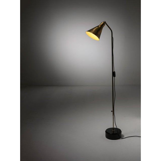 Gold Brass Floor Lamp Lte3 by Ignazio Gardella for Azucena For Sale - Image 8 of 8