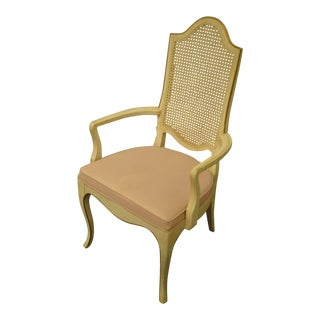 Late 20th Century Drexel Heritage Country French Provincial Arm Chair For Sale