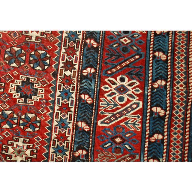 1880s Antique Caucasian Chichi Rug - 4′2″ × 5′6″ - Image 10 of 10