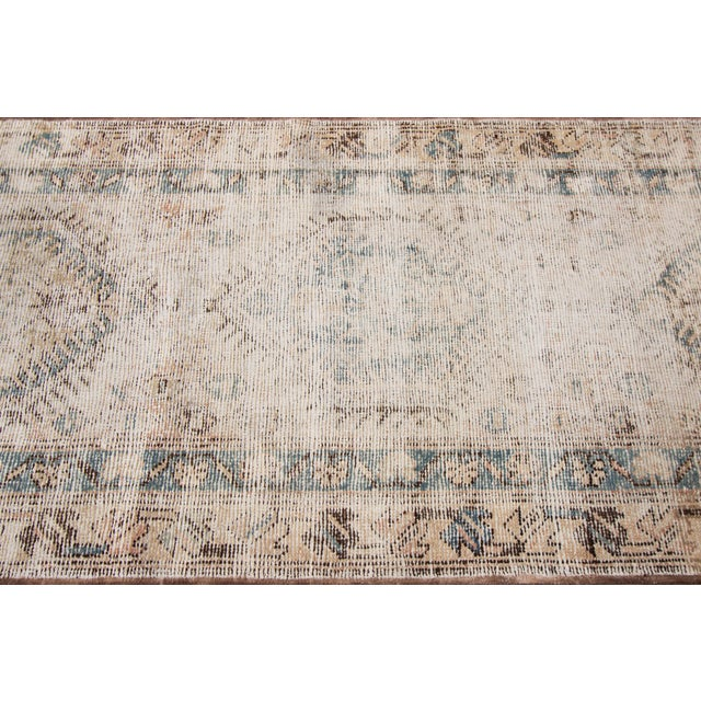 "Textile Apadana-Antique Persian Distressed Rug, 3'1"" X 10'1"" For Sale - Image 7 of 9"
