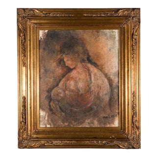 """""""Mother and Child"""" Framed Oil Painting For Sale"""