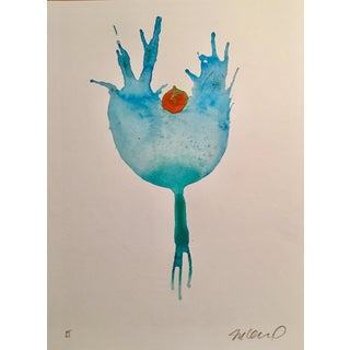 """""""Blueberry"""" Watercolor Painting For Sale"""
