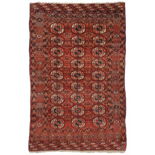 20th Century Turkmen Rug With Modern Tribal Style - 3′11″ × 6′ For Sale