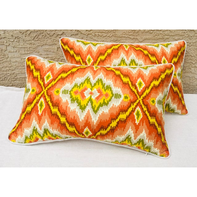 Mid Century Brunschwig and Fils Cotton Print Pillows - a Pair For Sale In Philadelphia - Image 6 of 10