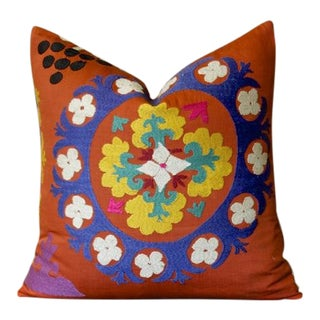 Chamelee Suzani Square Pillow For Sale