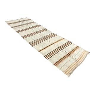 Vintage Striped Kilim Runner Rug For Sale