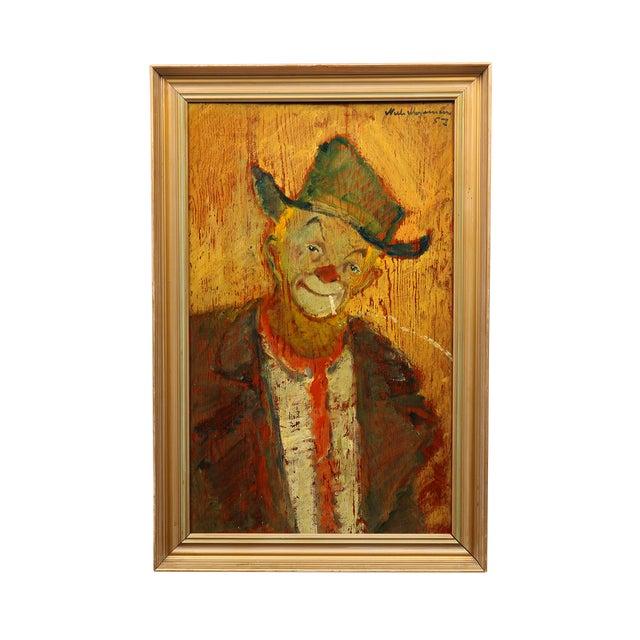 1957 Niels Mogensen Clown Portrait Painting - Image 1 of 3