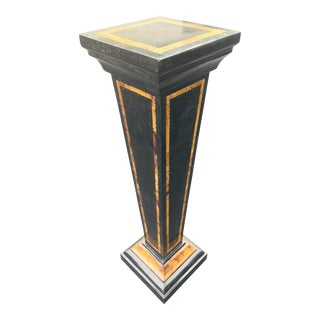 Vintage Tessellated Marble Pedestal in the Manner of Maitland Smith For Sale