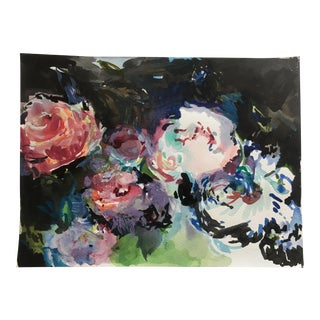 Peony Garden Painting on Paper