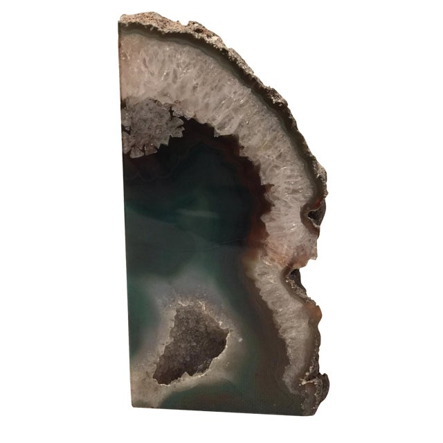 Emerald Green Agate Bookend - Image 1 of 7