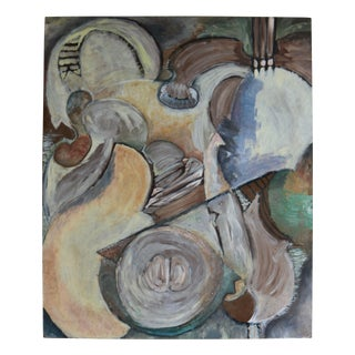 Modern Organic Cubist Abstract Painting