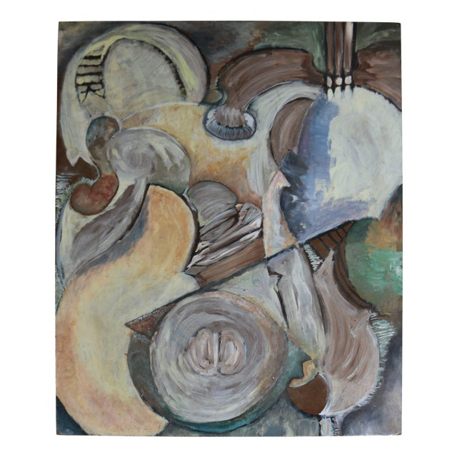 Modern Organic Cubist Abstract Painting For Sale