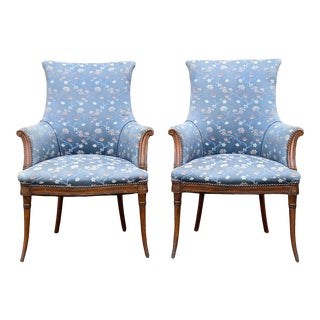 Grosfeld House Fireside Chairs - a Pair For Sale