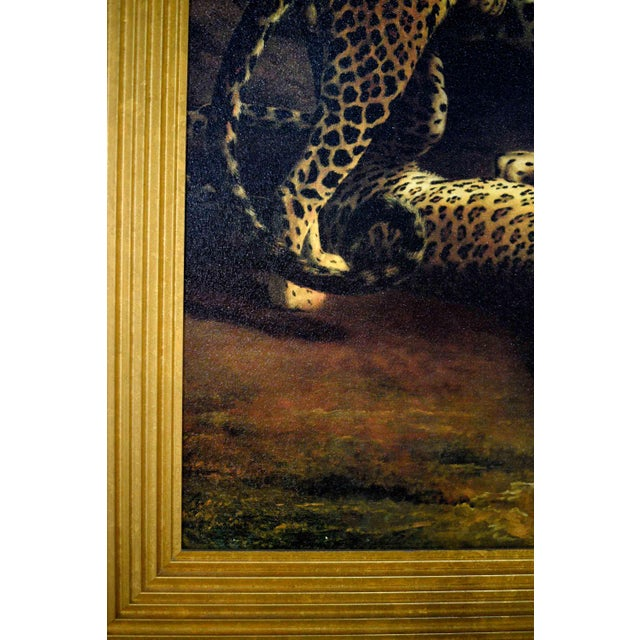 Two Leopards Lying in the Exeter Exchange by Jacques-Laurent Agasse Reproduction 47h X 37winches For Sale - Image 9 of 13