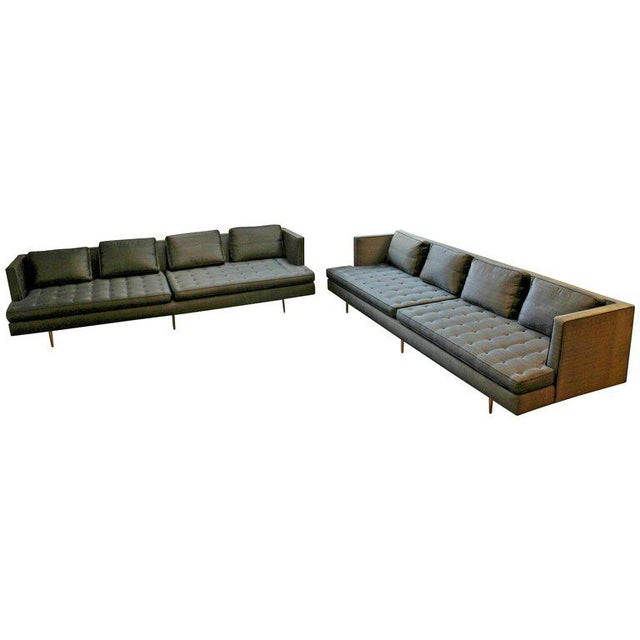 Mid-Century Modern Style Pair Wormley for Dunbar Chamberlain Model 4907a Sofas For Sale - Image 11 of 11