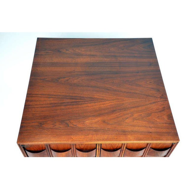 Rare Carved Walnut Cabinet by Brown Saltman For Sale - Image 9 of 10
