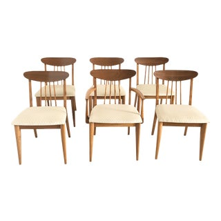 Mid-Century Bernhardt Dining Chairs - Set of 6 For Sale