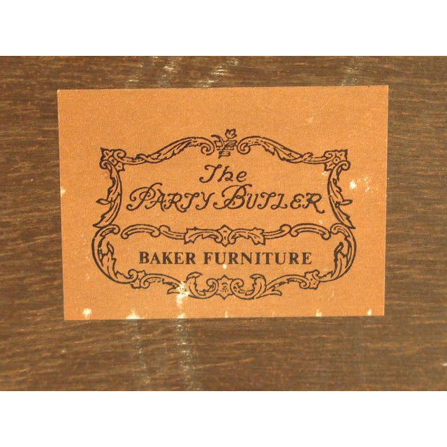 Baker Mahogany Serving Tray Table For Sale - Image 12 of 13