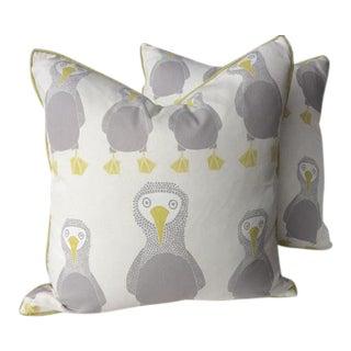 """Scion """"Booby Bird"""" Pillows - A Pair"""