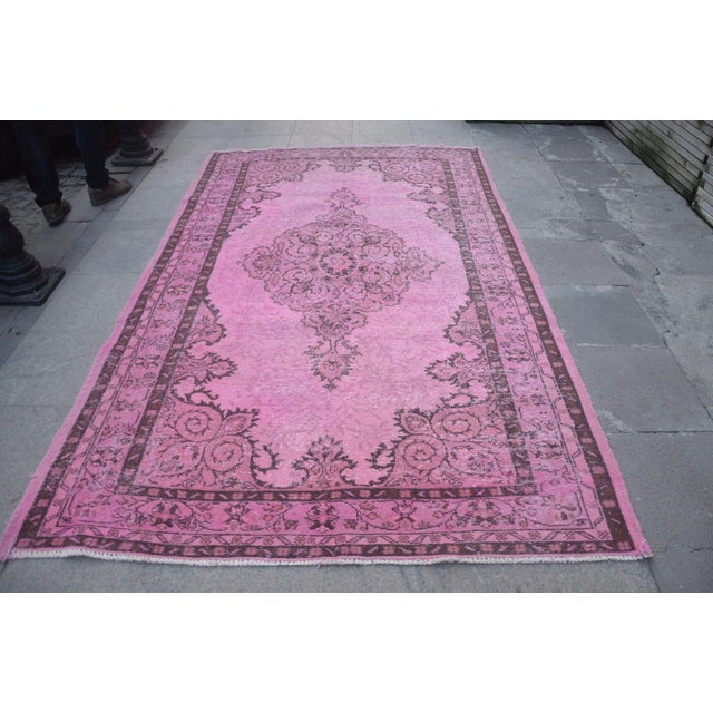 Turkish handmade handwoven vintage anatolian overdyed rug. We collect old vintage antique rugs from Anatolia, which is the...