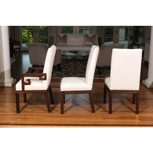 Rare Restored Set of Six Parsons Style Dining Chairs by Baker For Sale In Atlanta - Image 6 of 11