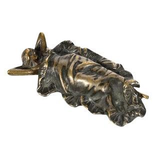 """Art Nouveau """"Woman Under Blanket"""" Bronze Figurine For Sale"""