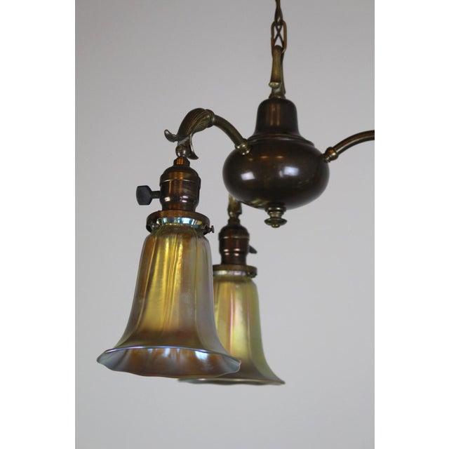 3 Light Art Nouveau Inspired Pendant - Image 7 of 7