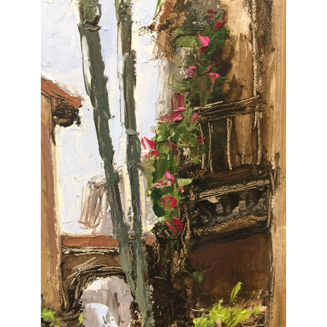 """Contemporary Beckham Contemporary Architectural Oil Painting """"Worth Avenue Via"""" For Sale - Image 3 of 7"""