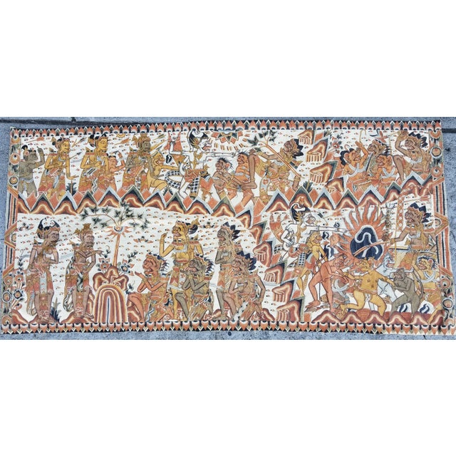 Burmese Painted Mythical Mural For Sale - Image 10 of 10