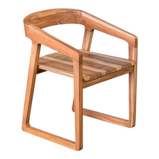 Ebb and Flow Celine Dining Chair in Natural Teak For Sale