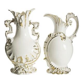 Gold Leaf Vases - a Pair For Sale