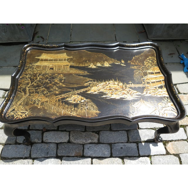 Chinoiserie Decorated Large Coffee Table w. Removable Tray Age: Approx: 10 Years Old Details: Quality Construction Large...