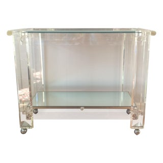 Geometric Lucite Bar Cart