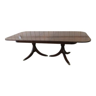 Late 20th Century Jonathan Charles Georgian Style Dining Table For Sale