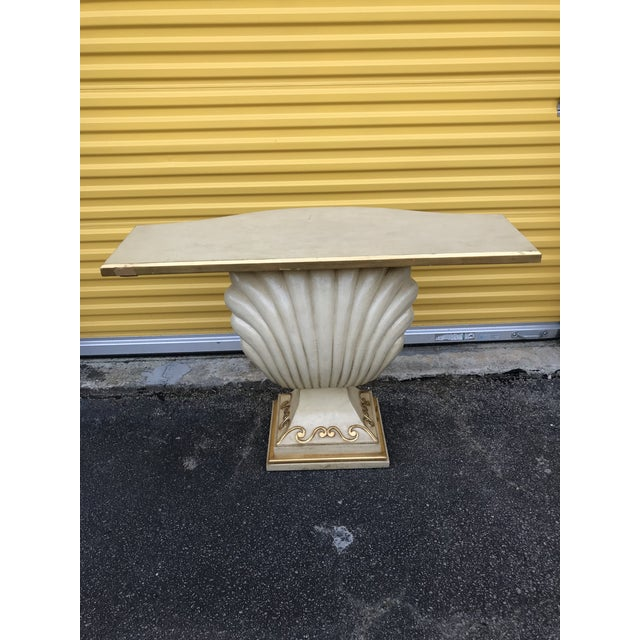 Hollywood Regency Shell Console Table For Sale - Image 10 of 11